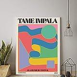 DYCUN Canvas Wandkunstdruck, Tame Impala In Glastonbury Gig