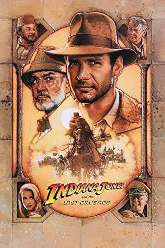 Puzzle 1000 Piezas,Carteles de películas de Indiana Jones y la última cruzada,DIY Arte Rompecabezas, Intelectual Educativo Rompecabezas, Divertido Juego Familiar Puzzle