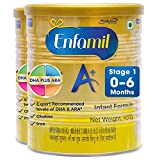 Enfamil A+ Baby Milk Powder Nutritional Health Drink Infant Formula Stage 1 (0-6 months) (400g x 2)