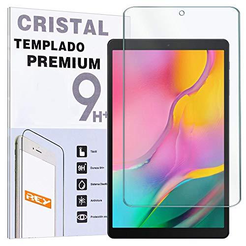 """REY - Protector de Pantalla para Samsung Galaxy Tab A 2019 10.1"""", Cristal Vidrio Templado Premium, Táblet"""