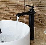 Grifo Latón Retro Elevación Grifo Tipo Cascada Un Solo Orificio Grifo De Lavabo De Baño Mixto Frío Y Caliente