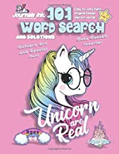 101 Word Search for Kids: SUPER KIDZ Book. Children - Ages 4-8 (US Edition). Pink, Glasses, Unicorn Words with custom art interior. 101 Puzzles with ... (Superkidz - Unicorn Word Search for Kids)