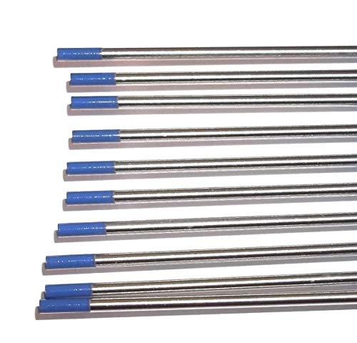 Electrodos de tungsteno, color azul, WL20, 2,4 x 175 mm, 10 unidades