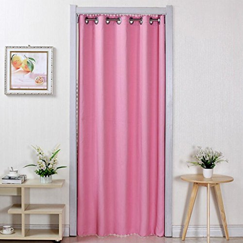 Liuyu · Maison de Vie Porte Rideau Tissu Solide Couleur Ménage Chambre Salon Cuisine Couper Rideau Climatisation (Couleur : Rose, Taille : 200 * 200cm)