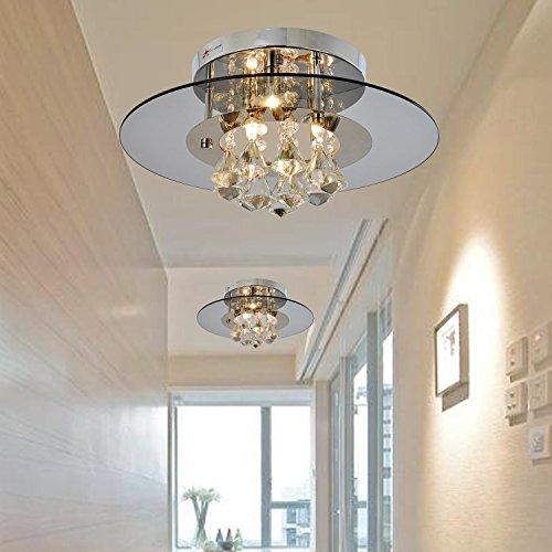 OOFAY LUCE Comtemporary goccia di cristallo a filo Lights montaggio con 4 luci in piazza design , Casa Moderna soffitto Light Fixture incasso