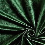 Dekostoff Samt – dunkelgrün — Meterware ab 0,5m —