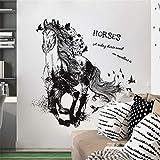 manyaxiaopu Adesivo Murale Cartoon Cavallo Corrente Camera da Letto Soggiorno TV Divano Sfondo Decorazione Adesivi Rimovibili 60X90Cm