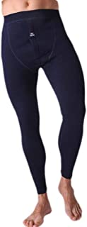 UUYUK Men Winter Underwear Thermal Pant with Fleece Lined Navy Blue US L