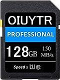 Original 128 GB SD Memory Card UHS-I Class 10 Memory SDXC Card,C10,U1,4K UHD,Max 150 MB/S Speed SD Card Ideal para cámaras y videocámaras (128 GB)