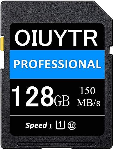 SDXC Karte 128 GB SD-Speicherkarte UHS-I Class 10, U1,4 K UHD, Max 150 MB/S Speed SD-Karte Ideal für Kameras und Camcorder (128 GB)