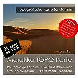 Tarjeta de sistema de navegación Marokko Garmin TOPP 4GB MicroSD Mapa Topográfico de GPS para tiempo libre para bicicleta, senderismo, excursiones, Geocaching y exteriores Dispositivos de navegación, ordenador y Mac