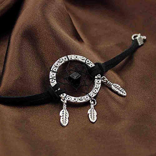 JYHW Dream Cather Hand ketting zomer Indian Dream Catcher armband zwart groen meisje cadeau verjaardag zwart