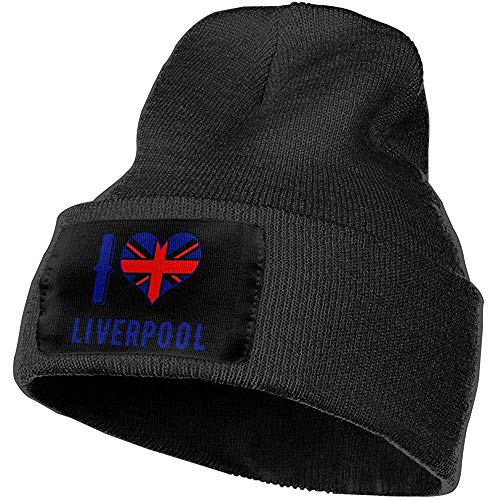 Hombres Mujeres Amo Liverpool Sombrero de Gorros de Punto cálidos al Aire Libre Gorros de Punto de Invierno Suave