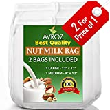 My Best Nut Milk Bag 2 Pack With Recipe eBook | Food Grade Nylon Mesh Reusable Filter Bags | Make Almond Milk, Use As Yogurt & Kefir Maker, Cheesecloth, Tea Filter, Food Strainer, Brew Coffee & More