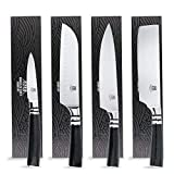 Brooklyn Knife Co. 4 Piece Set - Japanese Seigaiha Series - Etched HC Steel 8-7-7-3.5-Inch
