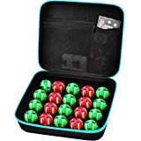 Toy Organizer Storage Case Compatible with Bakugan Figures, BakuCores and Small Dolls, Mini Toys Container Carrying Box with Mesh Pocket (Bag Only)