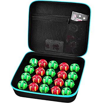 Toy Organizer Storage Case Compatible with Bakugan Figures BakuCores and Small Dolls Mini Toys Container Carrying Box with Mesh Pocket  Bag Only
