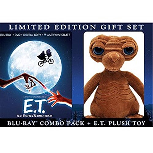 E.T. The Extra-Terrestrial Anniversary LIMITED EDITION Blu-ray + DVD + Digital Cop + Ultraviolet E.T. Plush Toy)