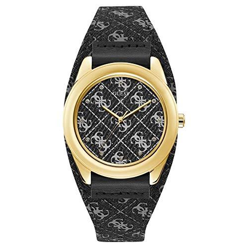 Guess Damen Analog Quarz Uhr mit Leder Armband W1278L2
