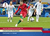 2018 CRISTIANO RONALDO HATS OFF HISTORIC FEAT PANINI INSTANT WORLD CUP CARD #36 + TOPLOADER