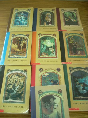A Series of Unfortunate Events Books 1-10 Paperback