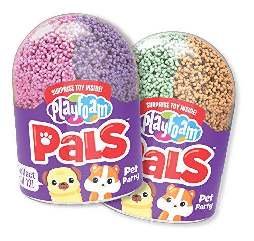 Espuma de Juegos con figuritas de los Amigos Playfoam Pals Pet Party (Serie 2 - Pack de 2)