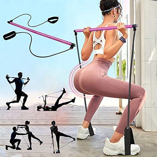 PLEASION Pilates Exercise Resistance Band Yoga Pilates Bar Reformer Kit Portable Pilates Stick product image