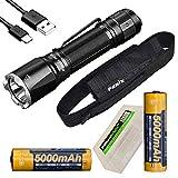 Fenix Bundle TK16 V2.0 3100 Lumen LED Tactical Flashlight, 2 X Rechargeable 5000mAh Li-ion Batteries, Holster and EdisonBright BBX5 Battery case