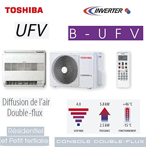 Konsole double- & # xfb02; UX UFV Toshiba Modell ras-b10ufv-e