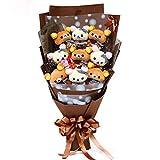 お祝い 可愛い ベア束 アニマル ぬいぐるみ ギフト プレゼント ベア ブーケ 結婚式 記念日 誕生日成人礼 出産祝い プロポーズ お祝い 卒業式 サプライズ (カラーE)