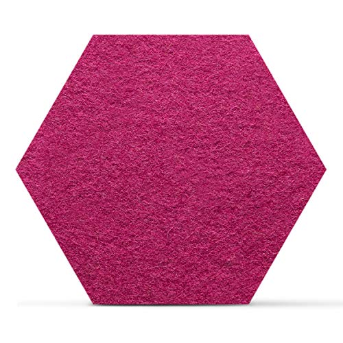 Smacc Filzuntersetzer, Hexagon 8er Set (Farbe wählbar) - Glasuntersetzer aus 100% Schafwolle, Untersetzer für Bar und Tisch,...