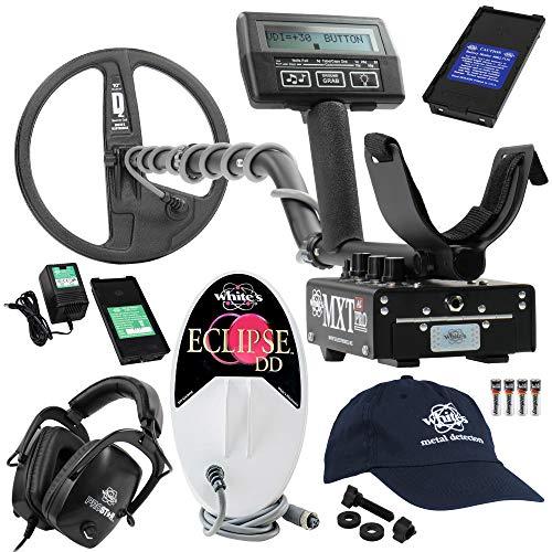 Review Whites MXT All Pro Detector Bundle, 6x10 Eclipse Coil, Headphones, More