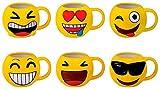 DISOK - Taza Emoticonos - Tazas Emojis, Emoticonos para Niños, Infantiles, Juveniles. Mugs Desayuno para Regalos y...