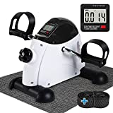 Under Desk Bike Pedal Exerciser - TABEKE Mini Exercise Bike for Arm/Leg Exercise, Pedal Exerciser...