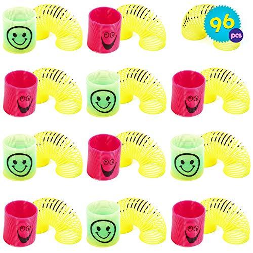 96 Mini Primavere Arcobaleno in Colori Assortiti | Slinkys Omaggi Di Feste, Favori Di Giocattoli, Sacchetti Per Compleanni, Natalizi Riempitivi Di Calze, Premi Di Classe, Halloween Bomboniere