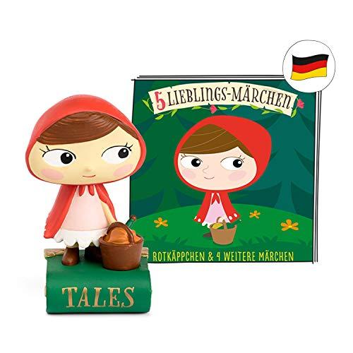 tonies Hörfiguren - 5 Lieblings Märchen Figur: ROTKÄPPCHEN, Frau Holle, Dronröschen, Rumpelstilzchen, Schneewitchen - für die Toniebox - ca 48 Min. - ab 3 Jahre - DEUTSCH