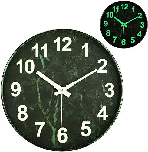 Orologio da Parete Moderno, 30cm Orologio Parete Cucina, Funzione di Visione Notturna, Vintage Orologio da Parete Grande, Orologio da Muro al Quarzo con Movimento Silenzioso Sweep