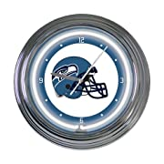 """Classic Neon design 15"""" diameter Features team logo,mascot Takes 1AA battery. Not included"""