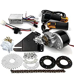 L-faster 24V36V250W Electric Conversion Kit for Common Bike Left Chain Drive Customized for Electric Geared Bicycle Derailleur (Twist Kit)