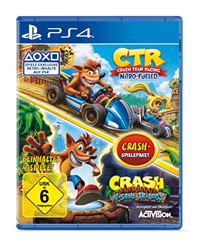 Crash Team Racing Nitro Fueled + Crash Bandicoot N'Sane Trilogy Bundle - [PlayStation 4]