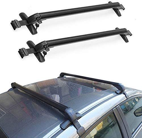 Facaimo Aluminum Car Top Luggage Roof Rack Cross Bar Carrier Adjustable Window Frame USA(110CM)