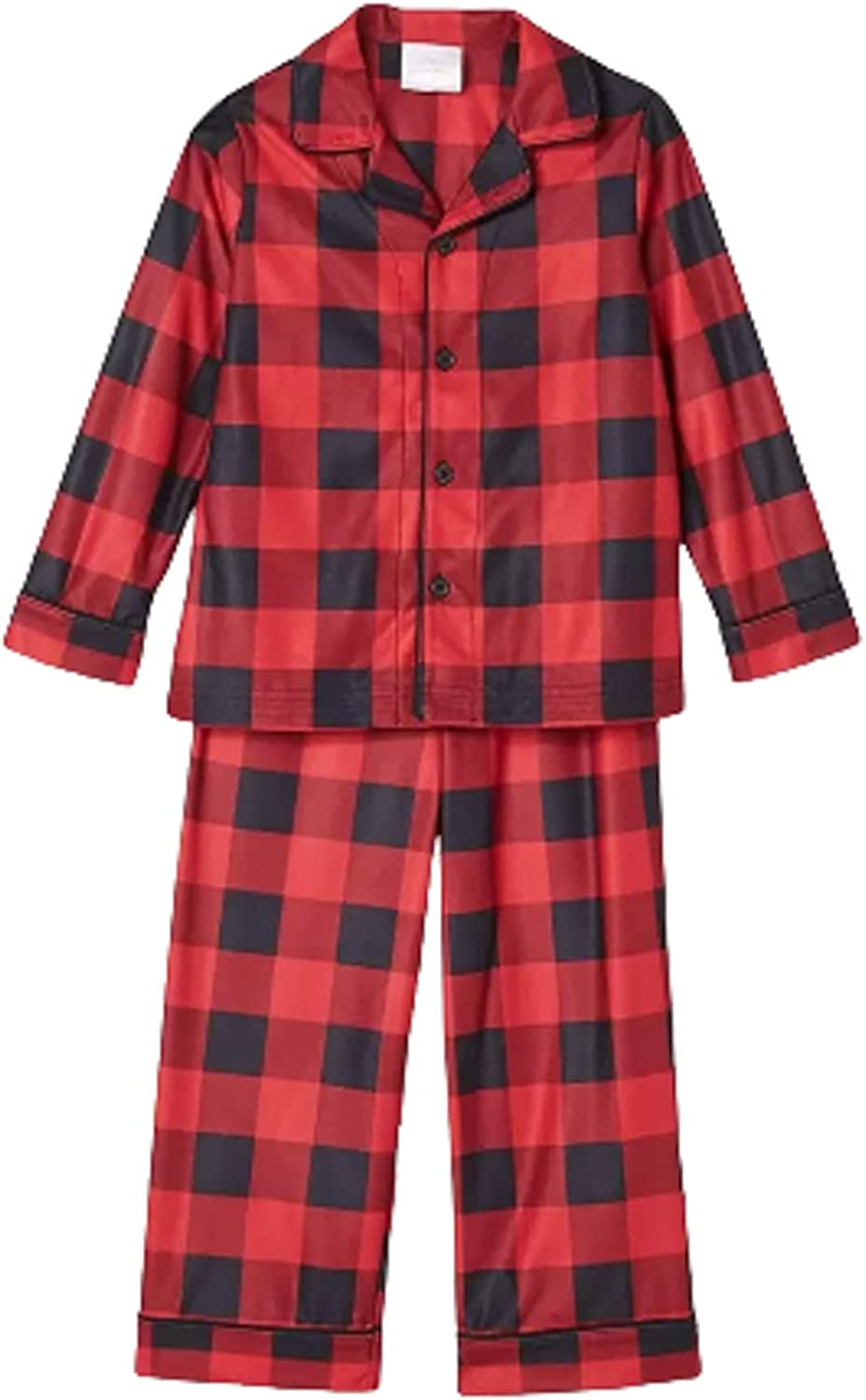 Toddler Holiday Buffalo Check Flannel 2 Piece Set (18 Months) Red