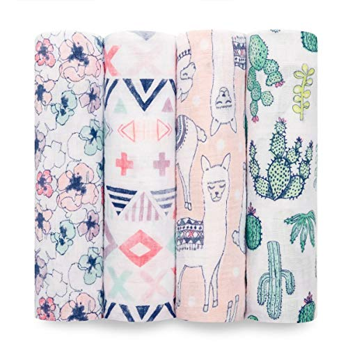 aden + anais Swaddle Blanket | Boutique Muslin Blankets for Girls & Boys | Baby Receiving Swaddles | Ideal Newborn Boy & Girl Gifts, Unisex Infant Shower Items, Toddler Gift, Wearable Swaddling Set