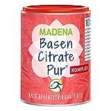 MADENA Premium BasenCitrate Pur Komplex | nach Apotheker Rudolf Keil | Citrat-Basenpulver vegan 240g | Das Original mit 100% organischen Basen | Viel Magnesiumcitrat, Zink, Kalium, Calcium, Acerola