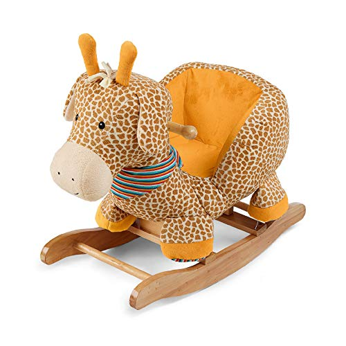 Sterntaler Schaukeltier Giraffe Greta, Kuschelzoo, Alter: 12-36 Monate, 68 x 36 cm, Gelb/Orange