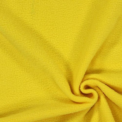 Fabulous Fabrics Fleece gelb, Uni, 150cm breit – Fleece zum Nähen von Decken und Kissen – Meterware erhältlich ab 0,5 m