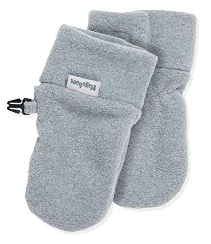 Playshoes Unisex - Baby Fäustling Kuschelweiche Fleece-Handschuhe, Baby Fäustel, Fäustlinge, grau, 6-12 Monate
