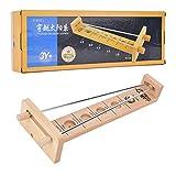 Qiilu Juguete de bola de escritorio, juguete de juego inteligente de madera para niños