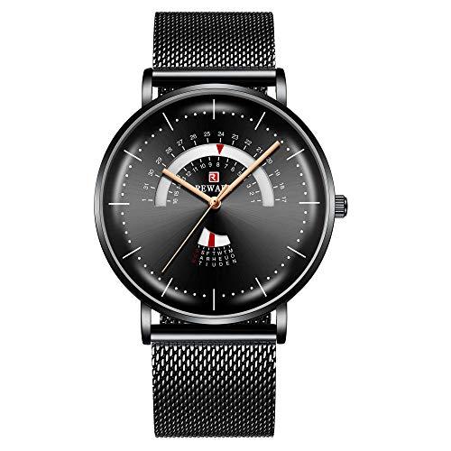 Relojes de Pulsera de Negocios de Moda de Cuarzo clásico analógico para Hombre-A