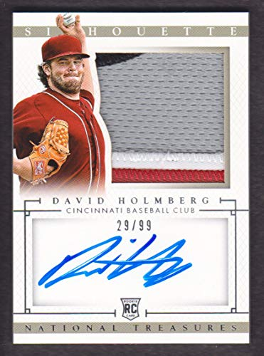 2014 Panini National Treasures Baseball Rookie Silhouette #42 David Holmberg Auto Jersey 29/99